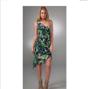 Diane von Furstenberg one shoulder silk dress